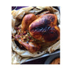 roast turkey with stuffing in unbleached non stick parchment roasting bag XL