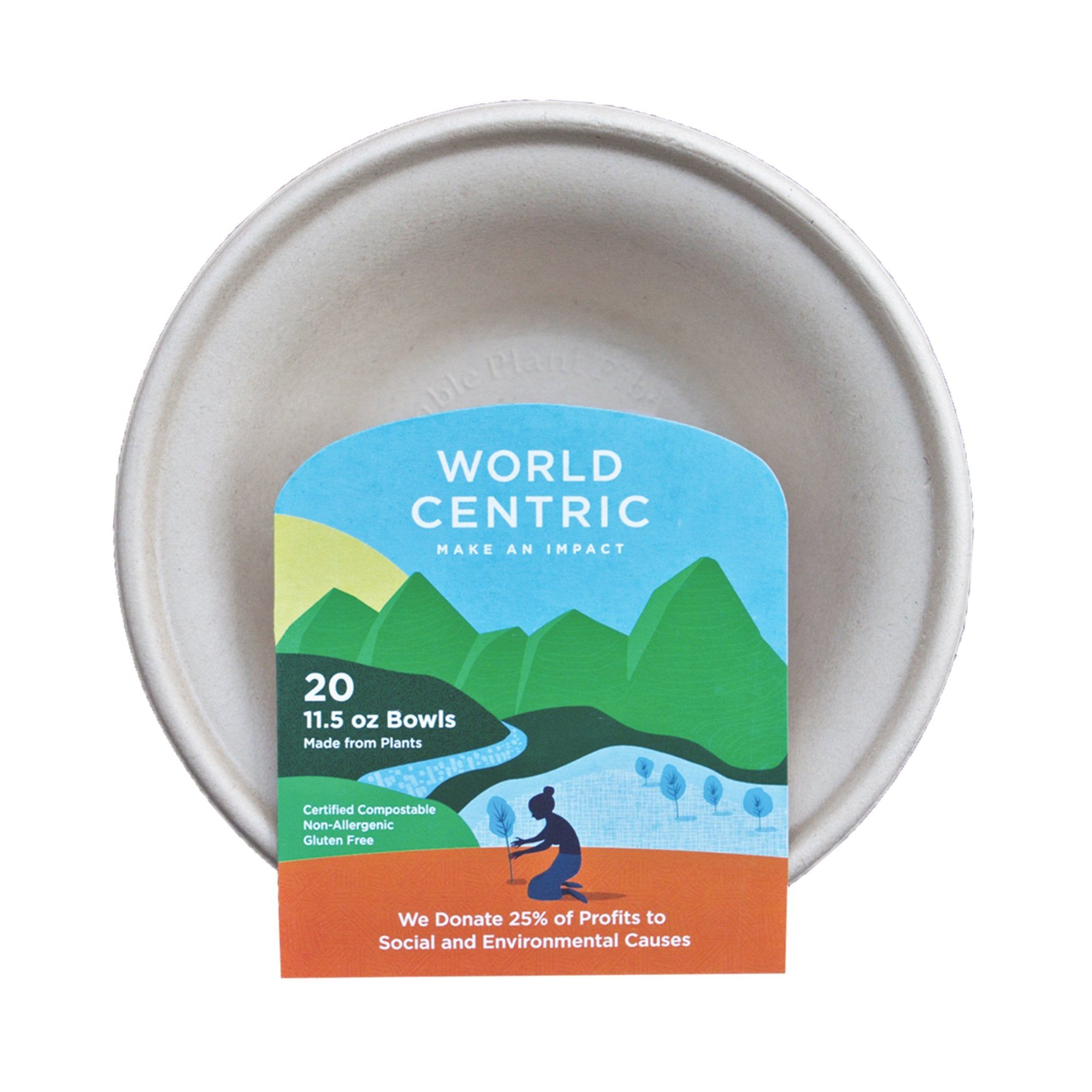 Compostable 11.5 oz Bowls