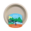 "9"" compostable plates with plain rim. pack of 20"