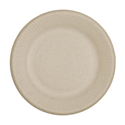 "compostable 6"" ripple edge, paper plate"