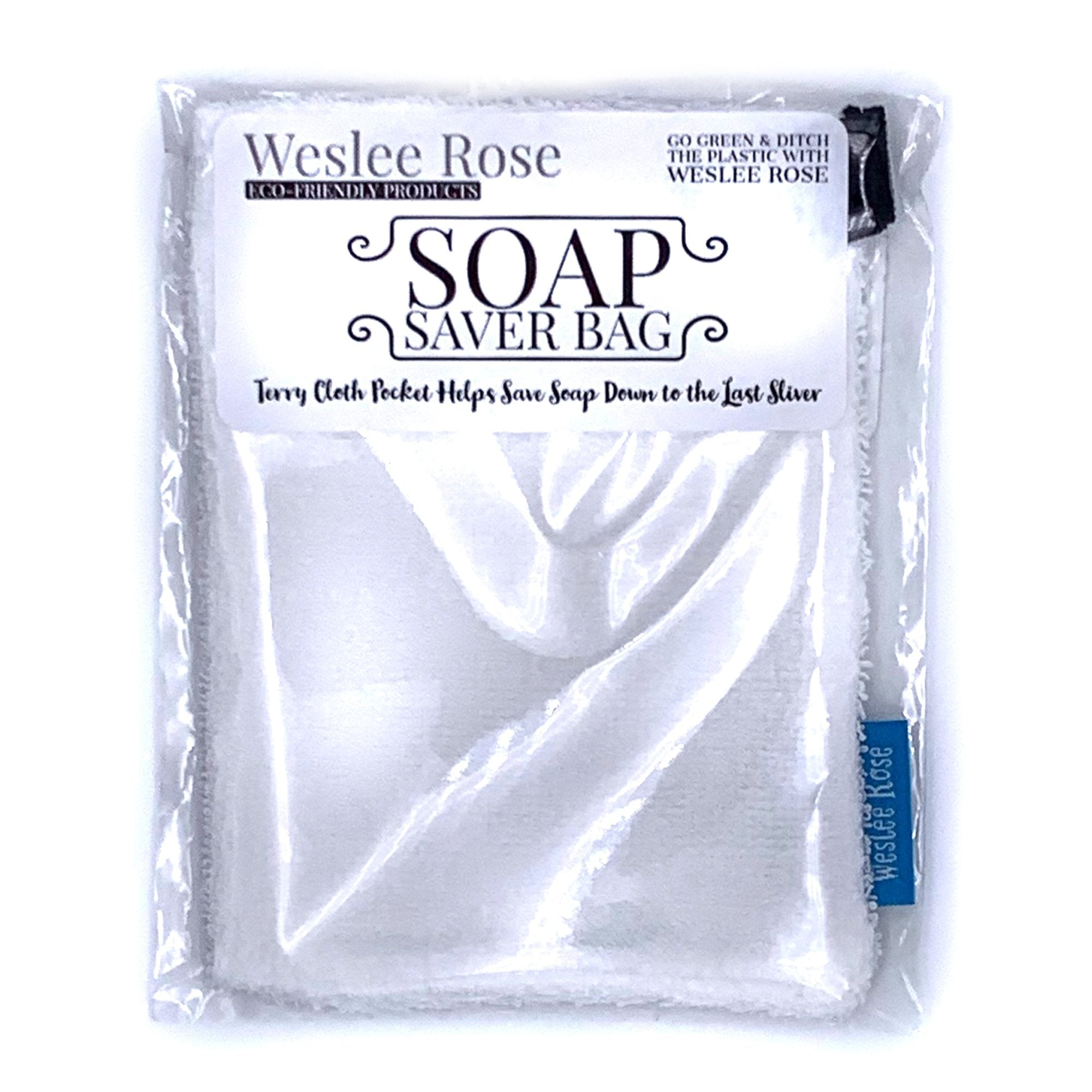 Soap saver bag made with 100% cotton, 100% compostable bags