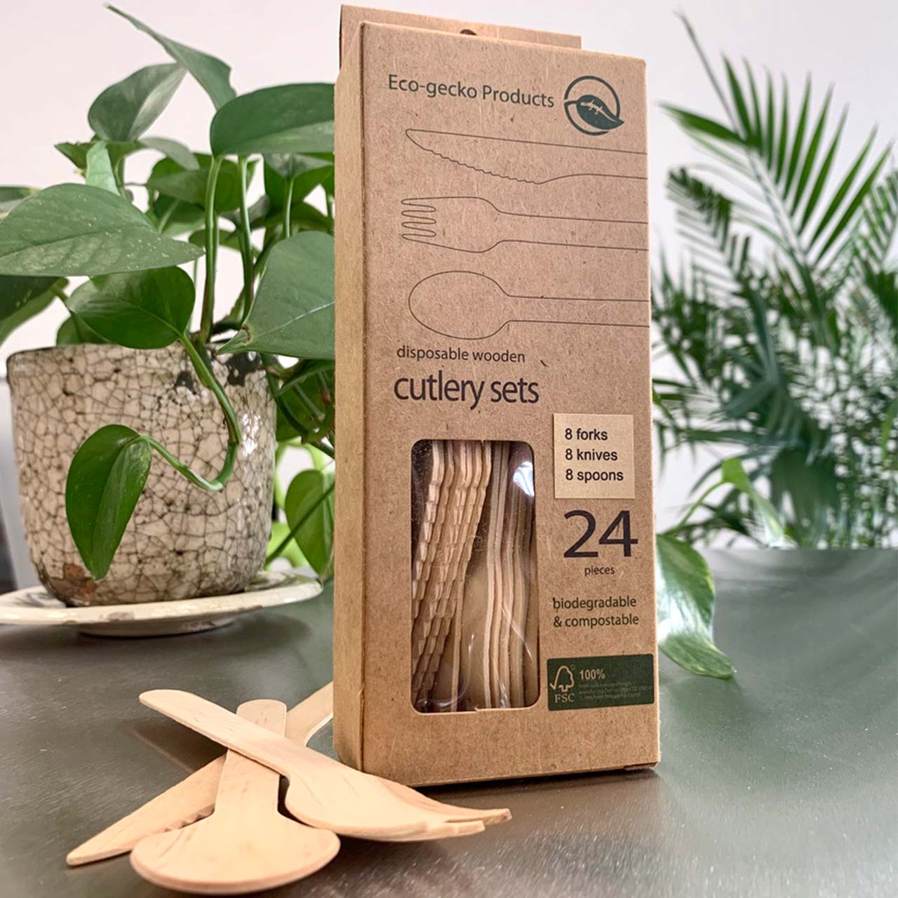 Disposable FSC® Birch Cutlery