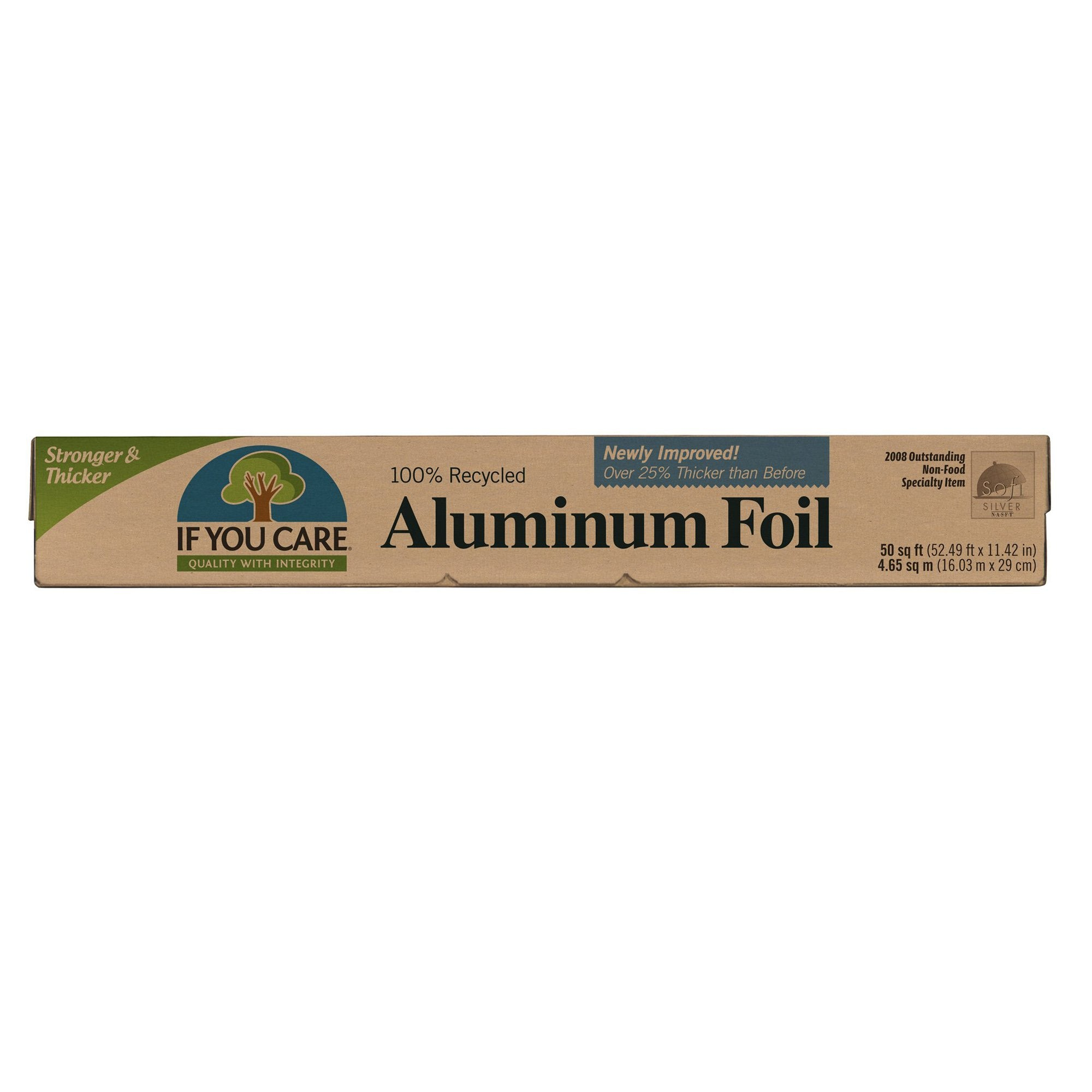 100% Recycled Aluminum Foil by If You Care, 50 square feet