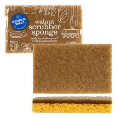 Walnut Scrubber Sponge 2-Pack