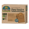 paper snack & sandwich bags in package, 48 bags. bag measure 19cm x 6.2cm x 5.7cm
