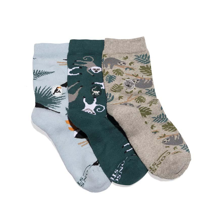 KIDS! Organic Socks that Protect Rainforests