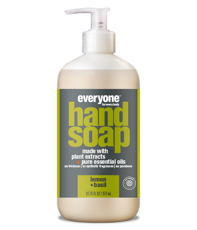 everyone hand soap,  lemon + basil, 12.75 fl oz.