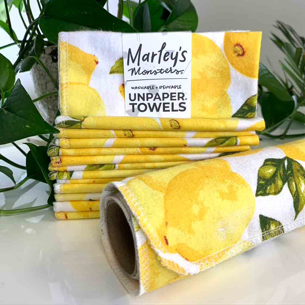 Marley's Monsters UNpaper Towels -Vintage Lemons--What's Good