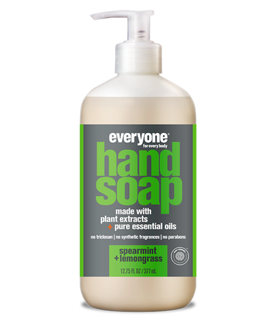 everyone hand soap, spearmint + lemongrass, 12.75 fl oz.