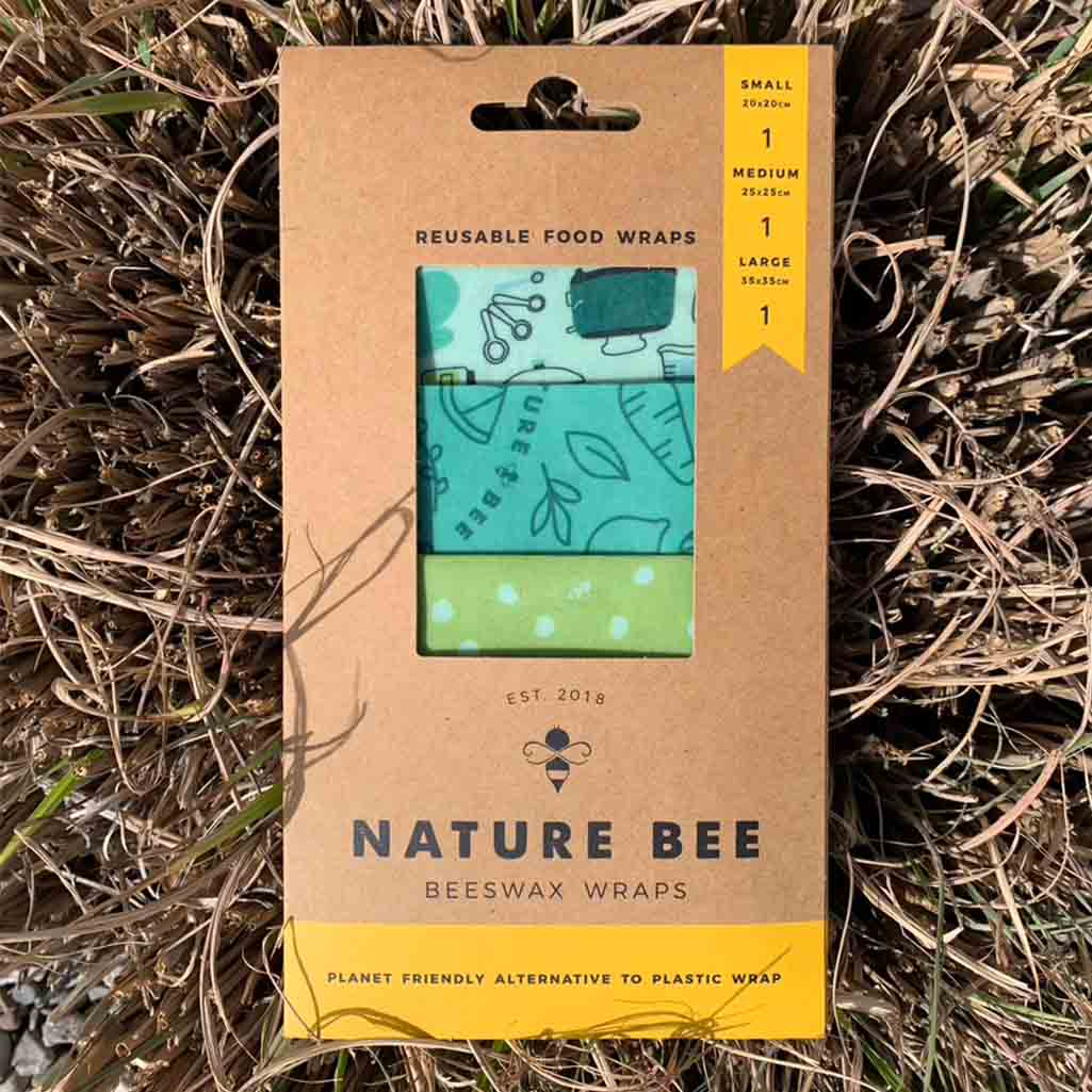 Nature Bee Beeswax Food Wraps | Chef's Kiss 3-Pack