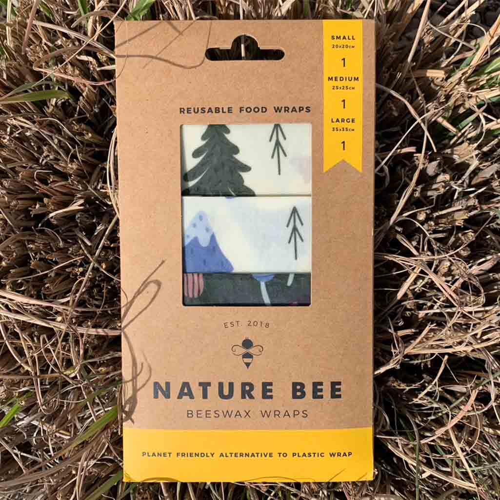 Nature Bee Beeswax Food Wraps | Pacific Northwest 3-Pack