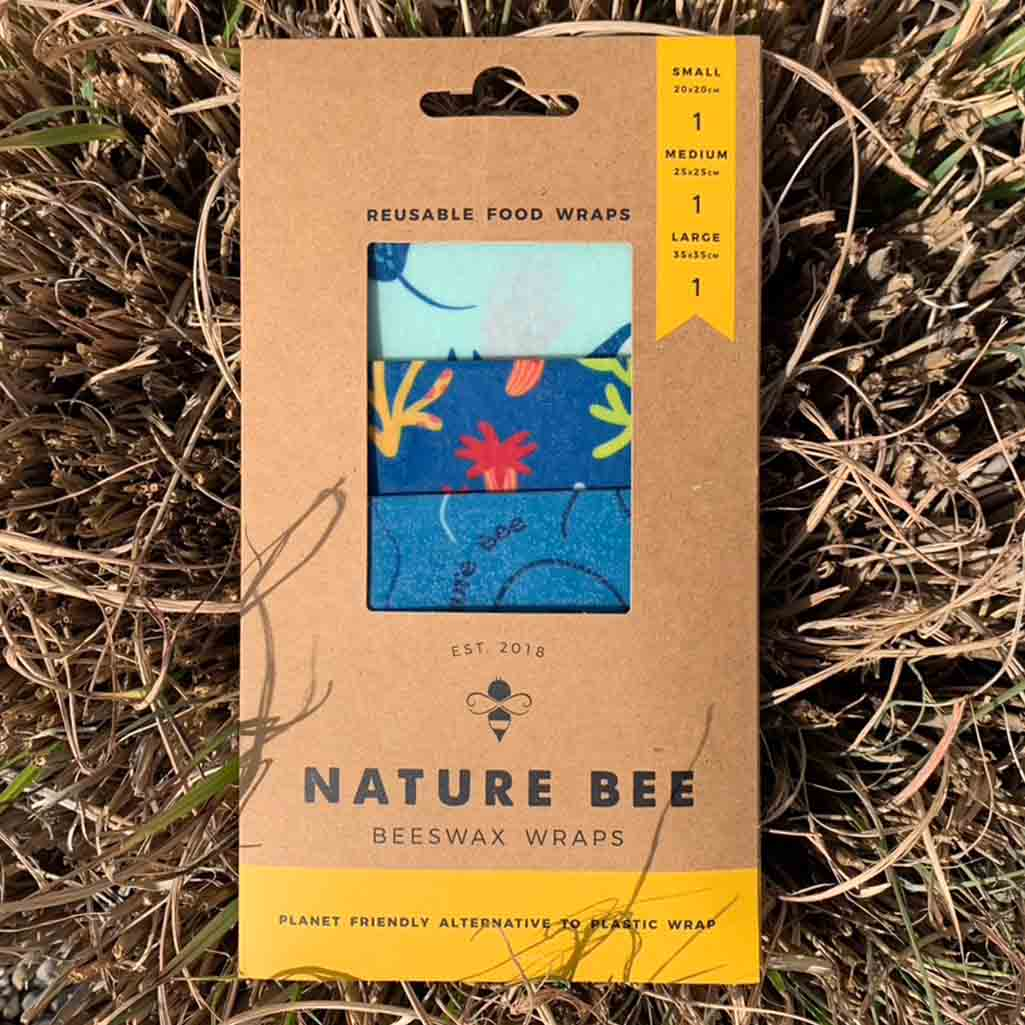 Nature Bee Beeswax Food Wraps | Ocean Lovers 3-Pack