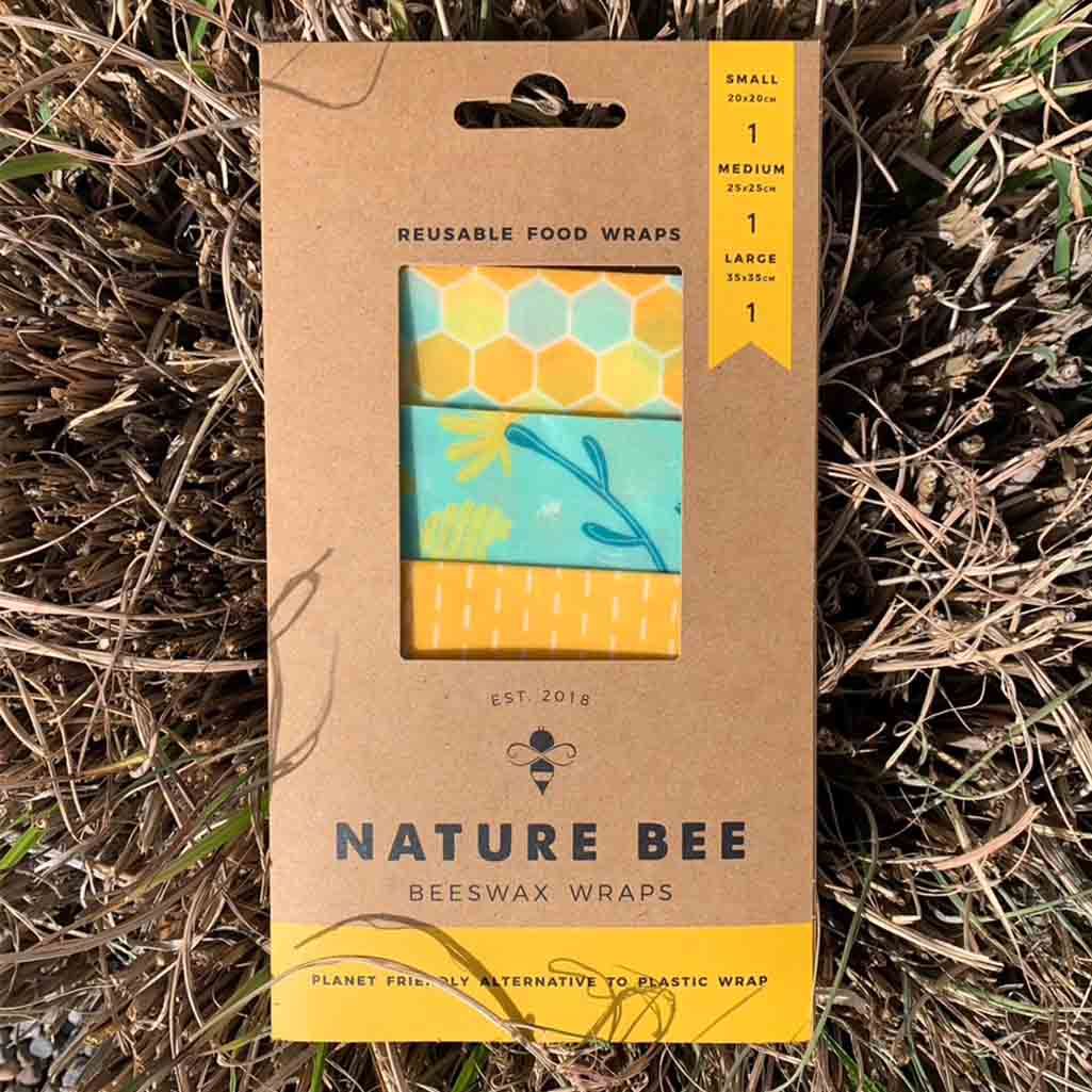 Nature Bee Beeswax Food Wraps | Bee Lovers 3-Pack
