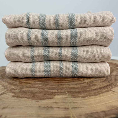100% Recycled Cotton Tea Towels — 4-Pack Silver