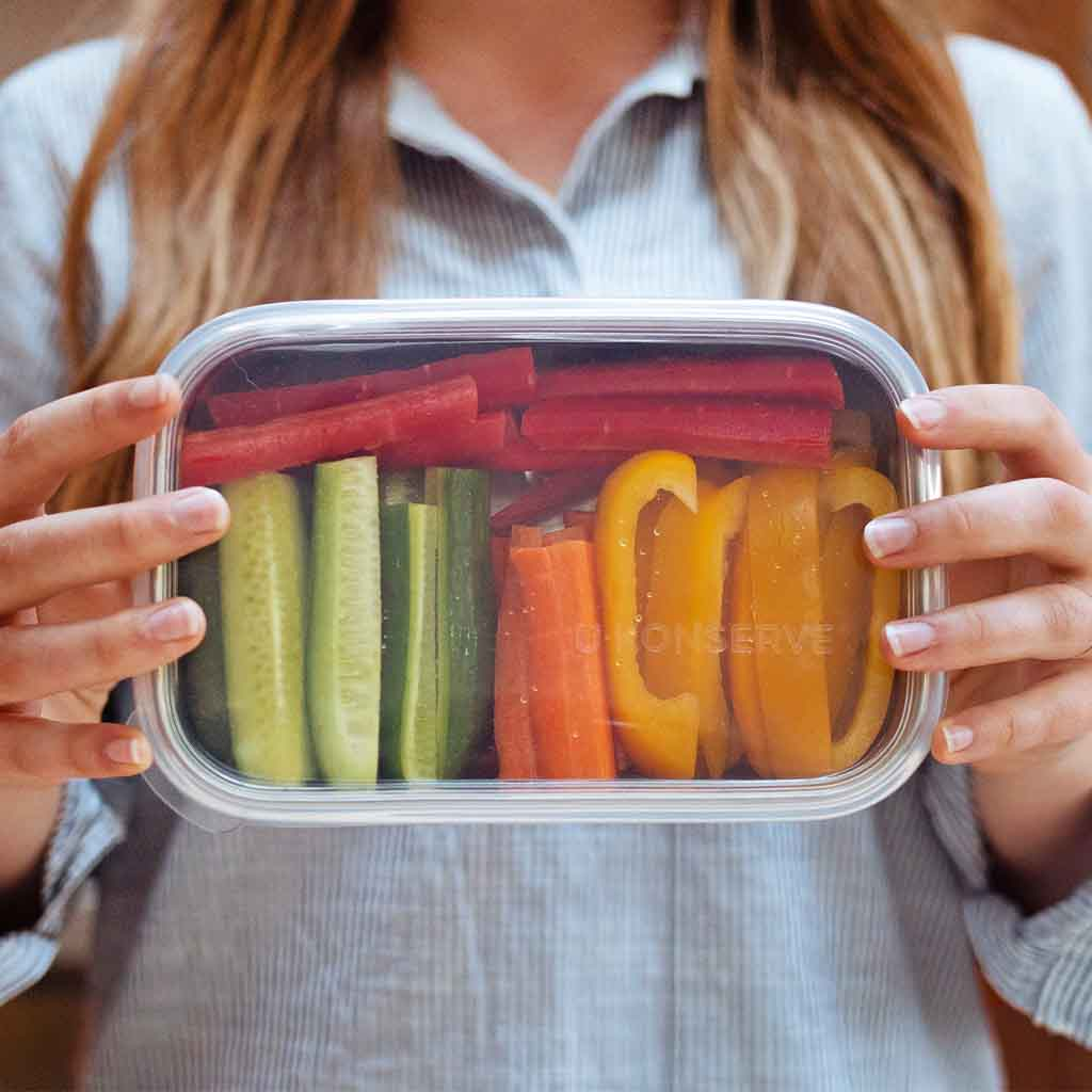 Stainless Steel Container with Silicone Lid — Rectangle