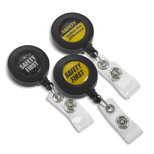 Safety themes retractable badge reels