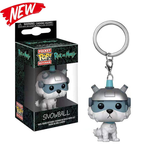 Rick and Morty Funko Keychains