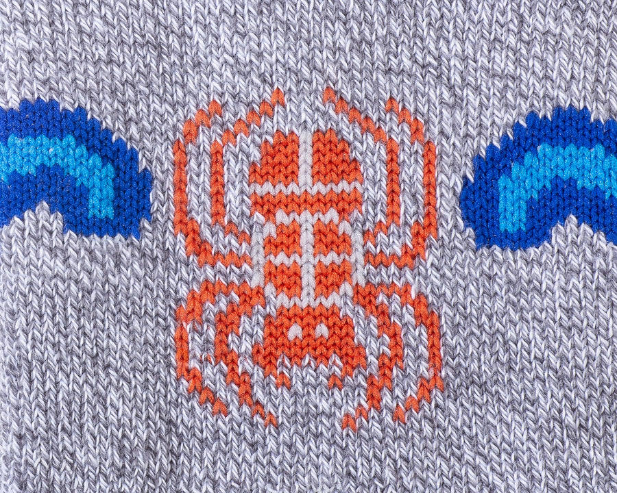 Water Spider Quarter Sock