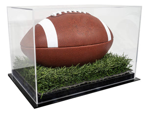 Acrylic Football Case with Turf