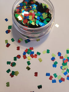 Ouch! Lego Shaped Glitter