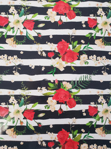 Floral stripe vinyl and htv