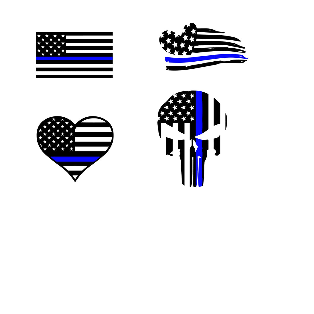 Thin Blue/Red Line SVG Set