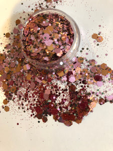 Oh Girl! Extra Chunky Rose Gold Glitter