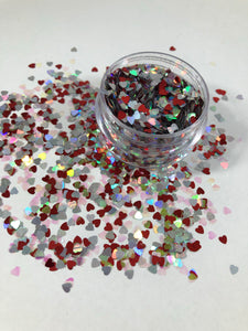 Love Struck heart glitter shapes