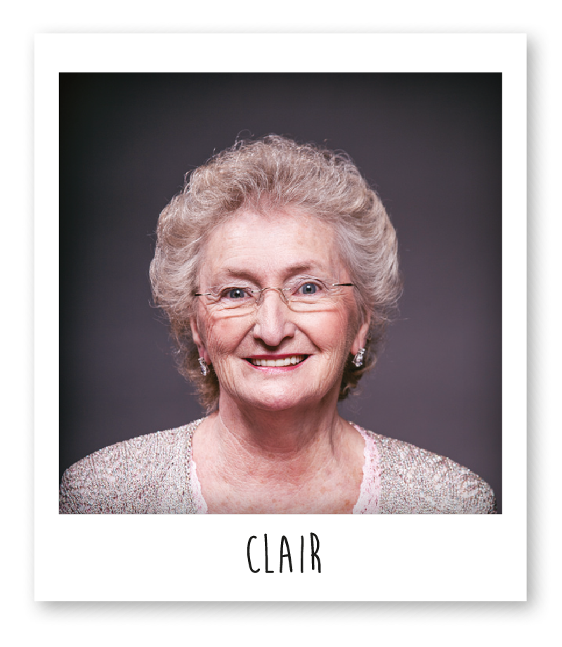 Clair is a knitter who works for Funi, she has been knitting beanies for 60 years