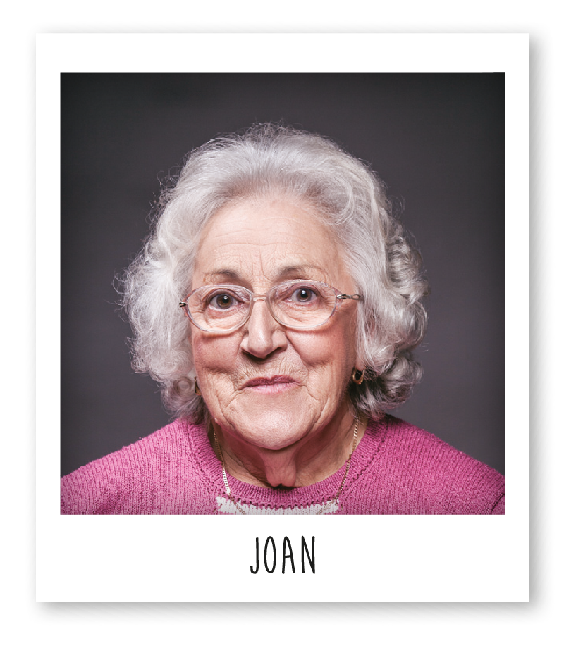 Joan is the oldest funi knitter and has been with the company for over 10 years