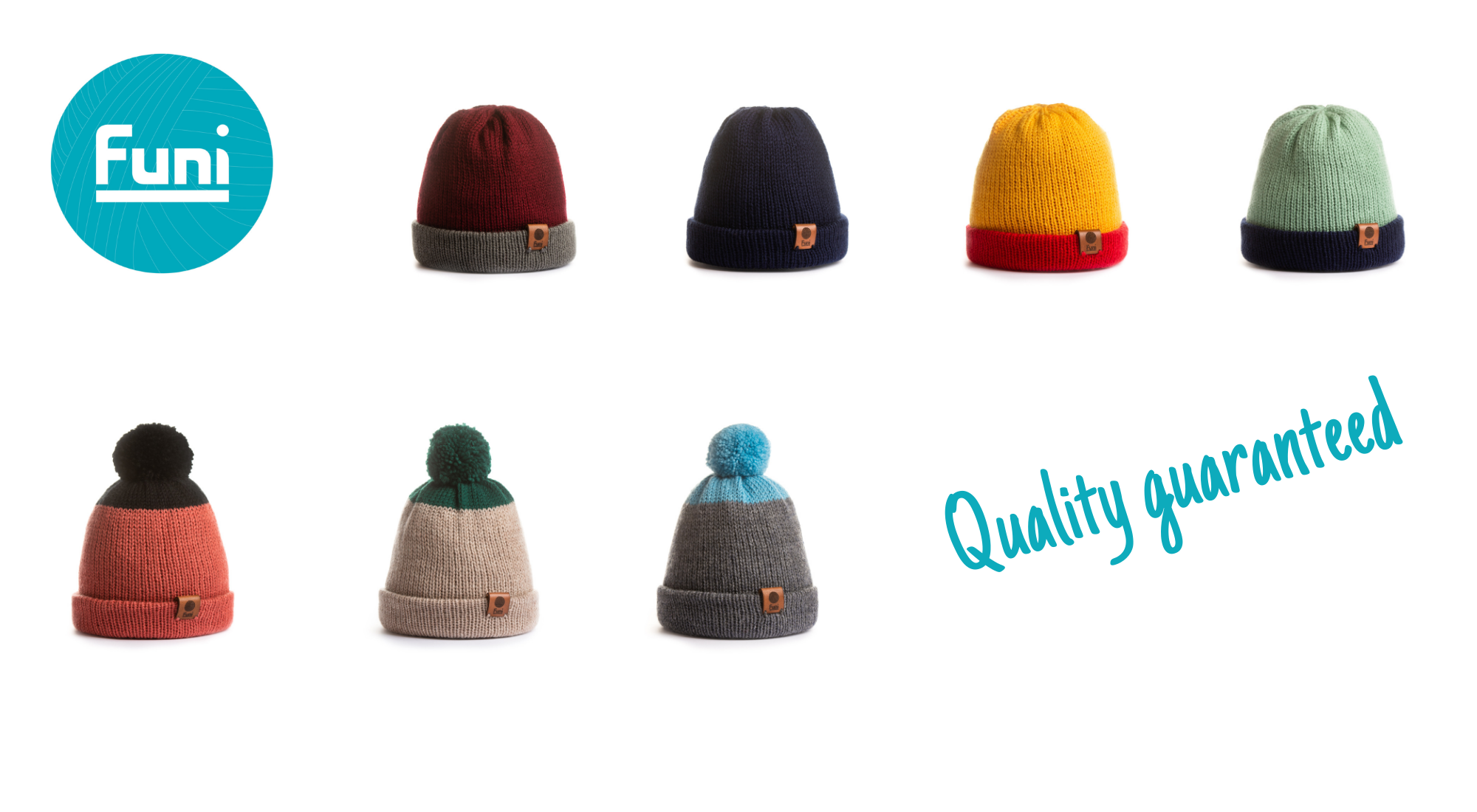 our merino knitted range of quality hats