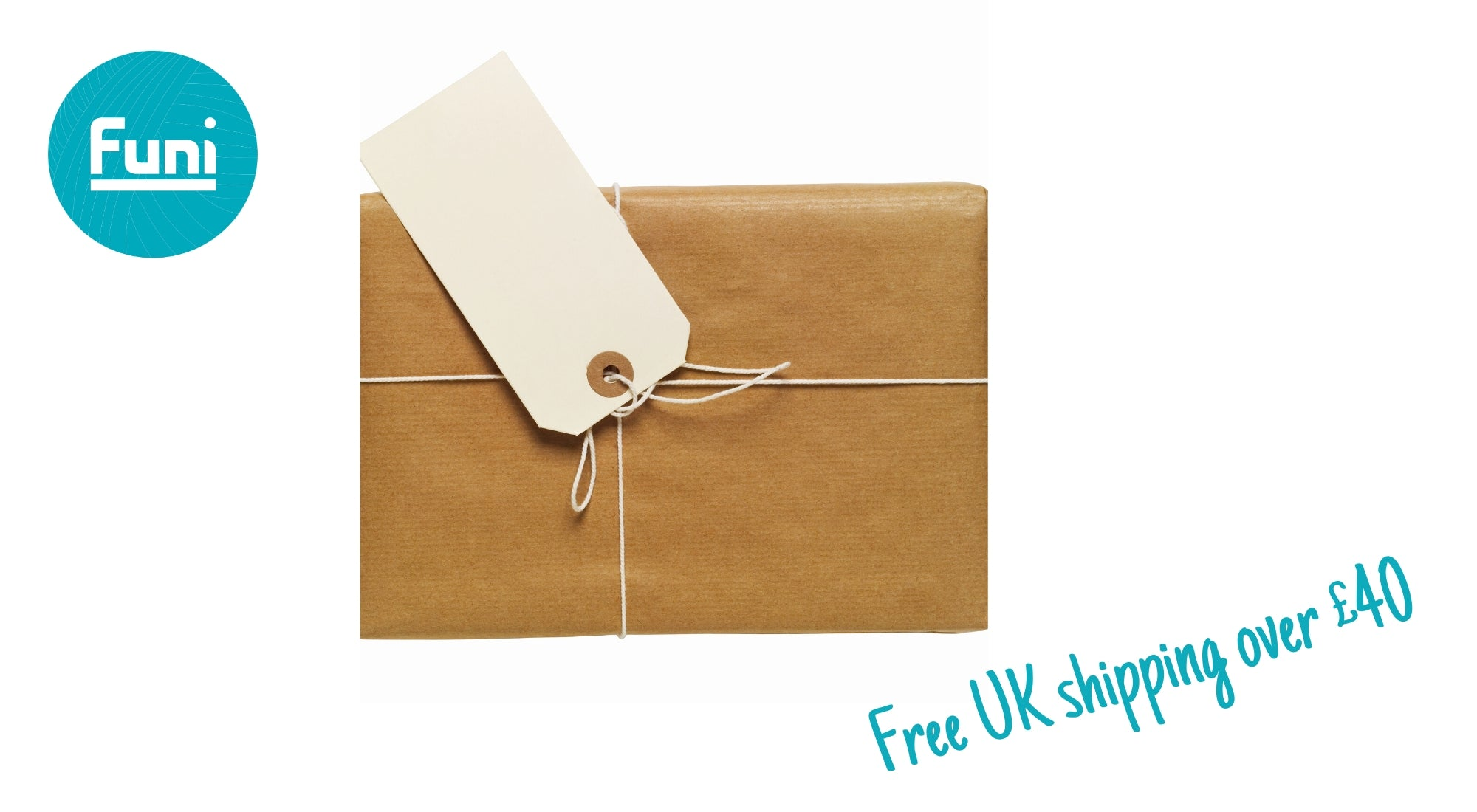 shipping for free and brown paper parcel