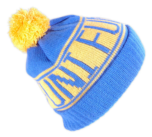 cheap royal blue knitted beanie hat
