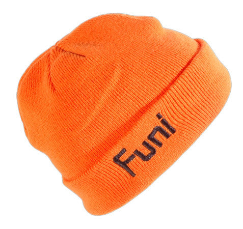 orange high vis knitted beanie