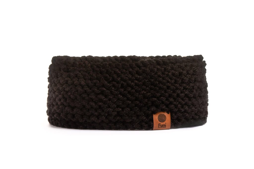 luxury black knitted headband