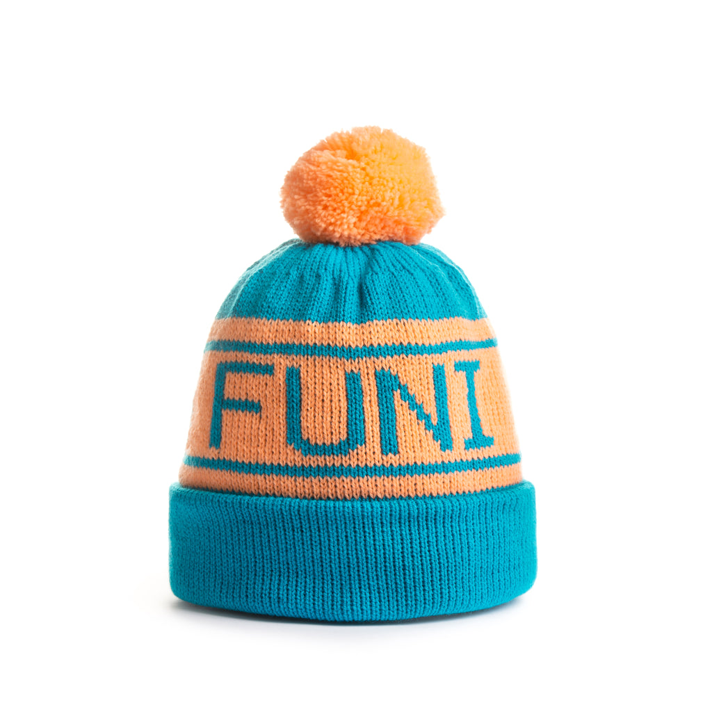 The Funi (Turquoise / Peach)