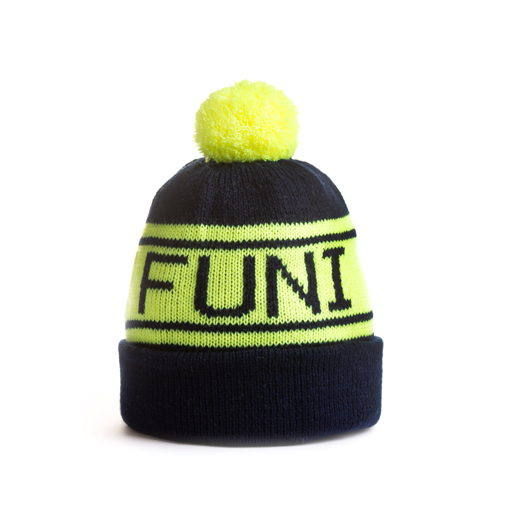 knitted running beanie luminous