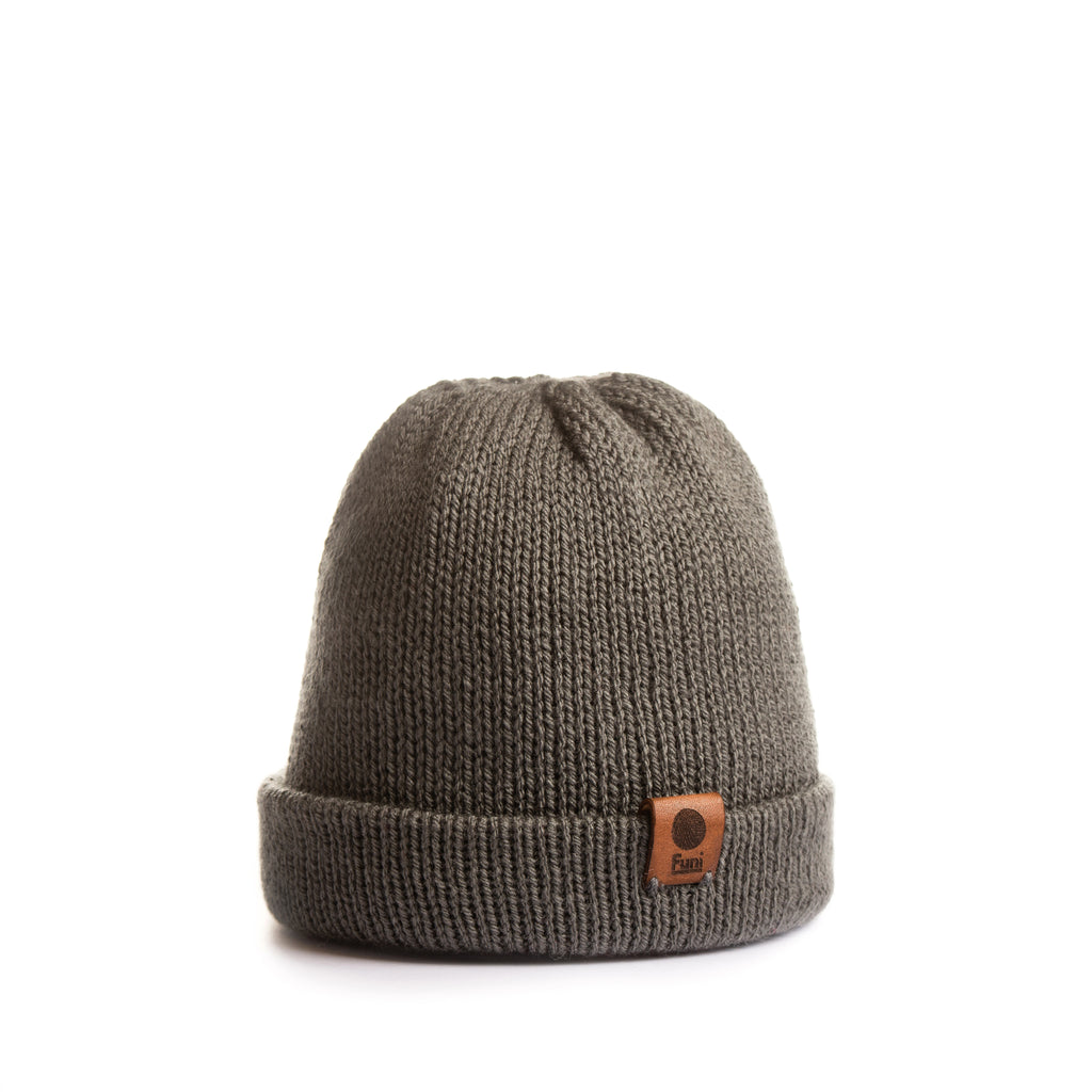 versatile knitted merino beanie turn up removable pompom