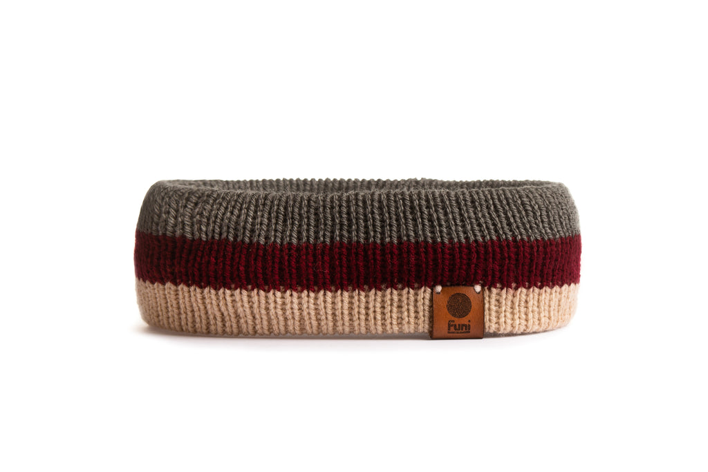 retro knitted sweat band made in britian