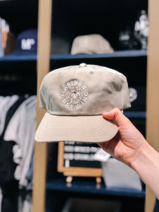 Classic Dap Cap - Taupe w/ White Embroidery