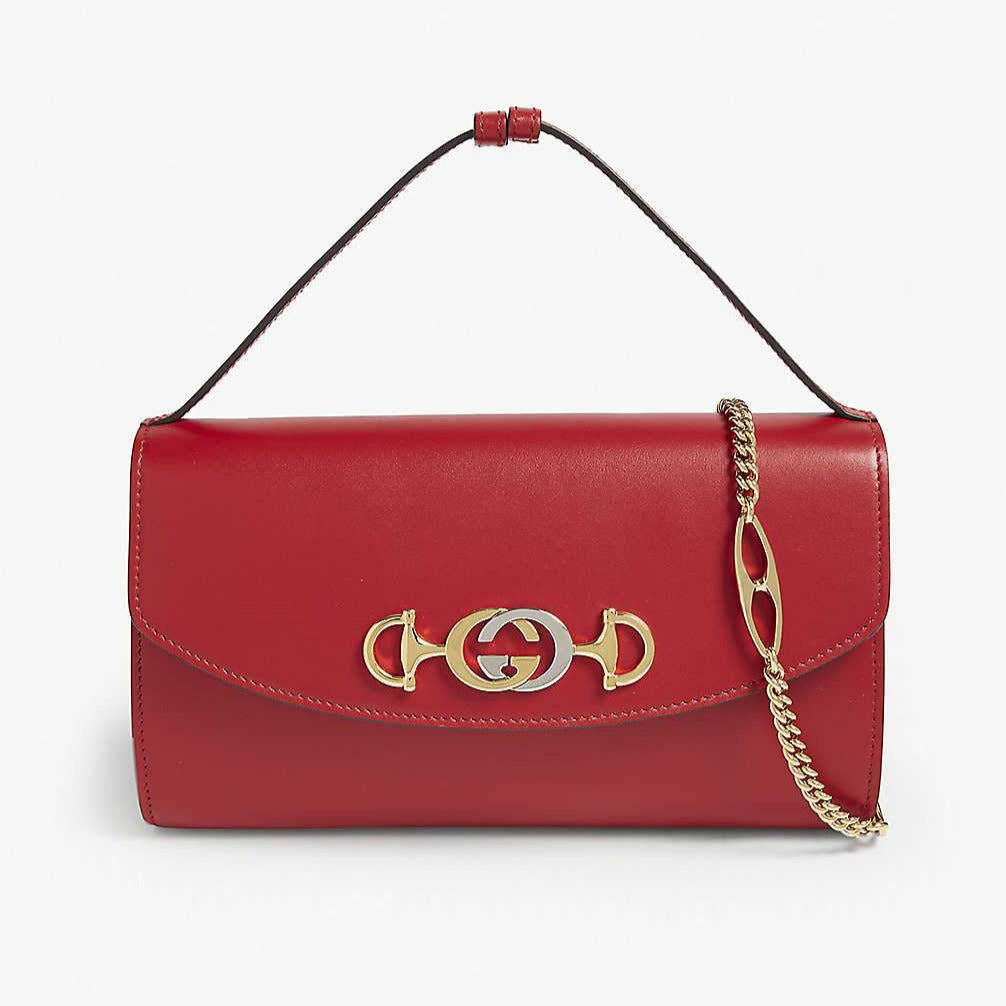 GUCCI - Zumi Smooth Leather Small Shoulder Bag - Red