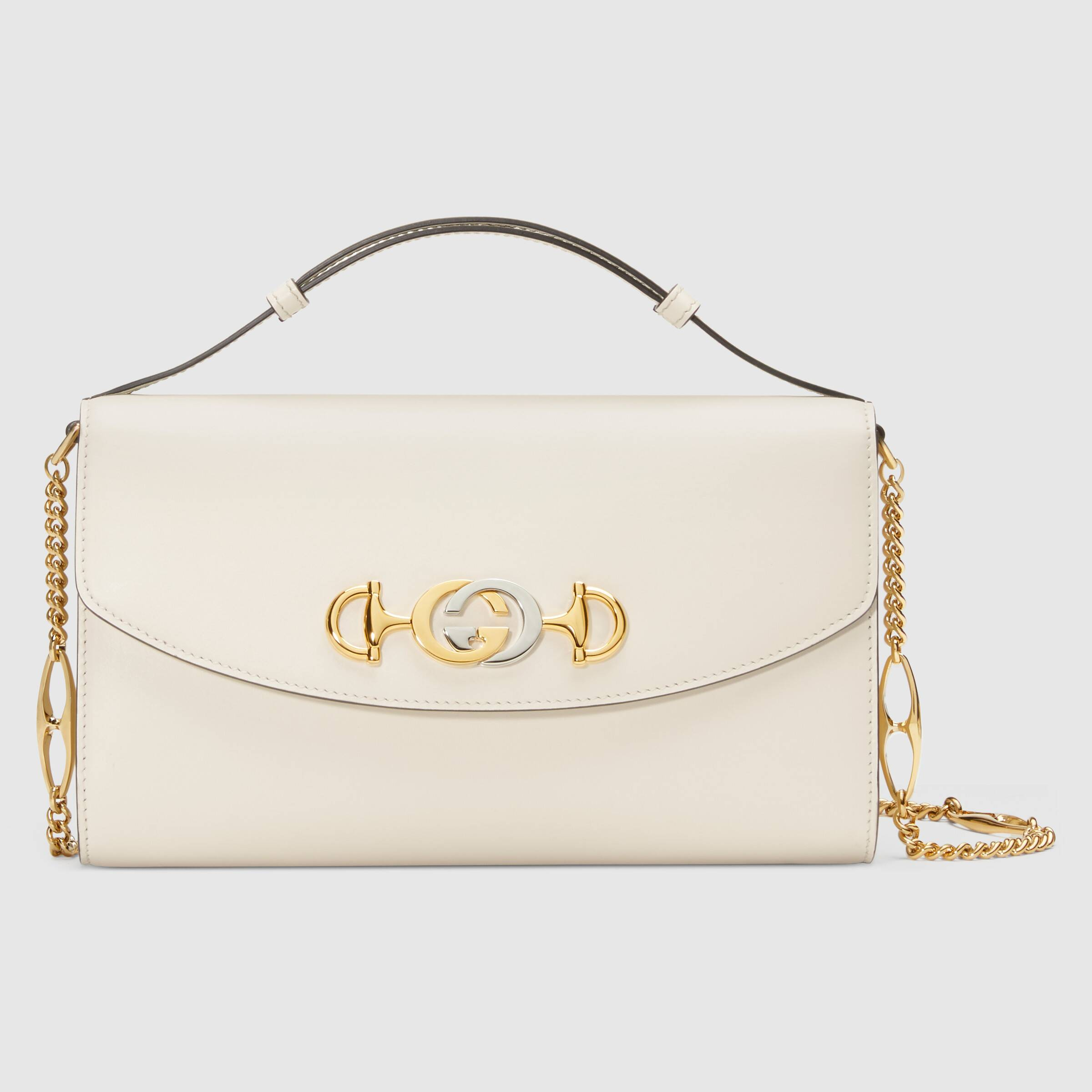 GUCCI - Zumi Smooth Leather Small Shoulder Bag - White