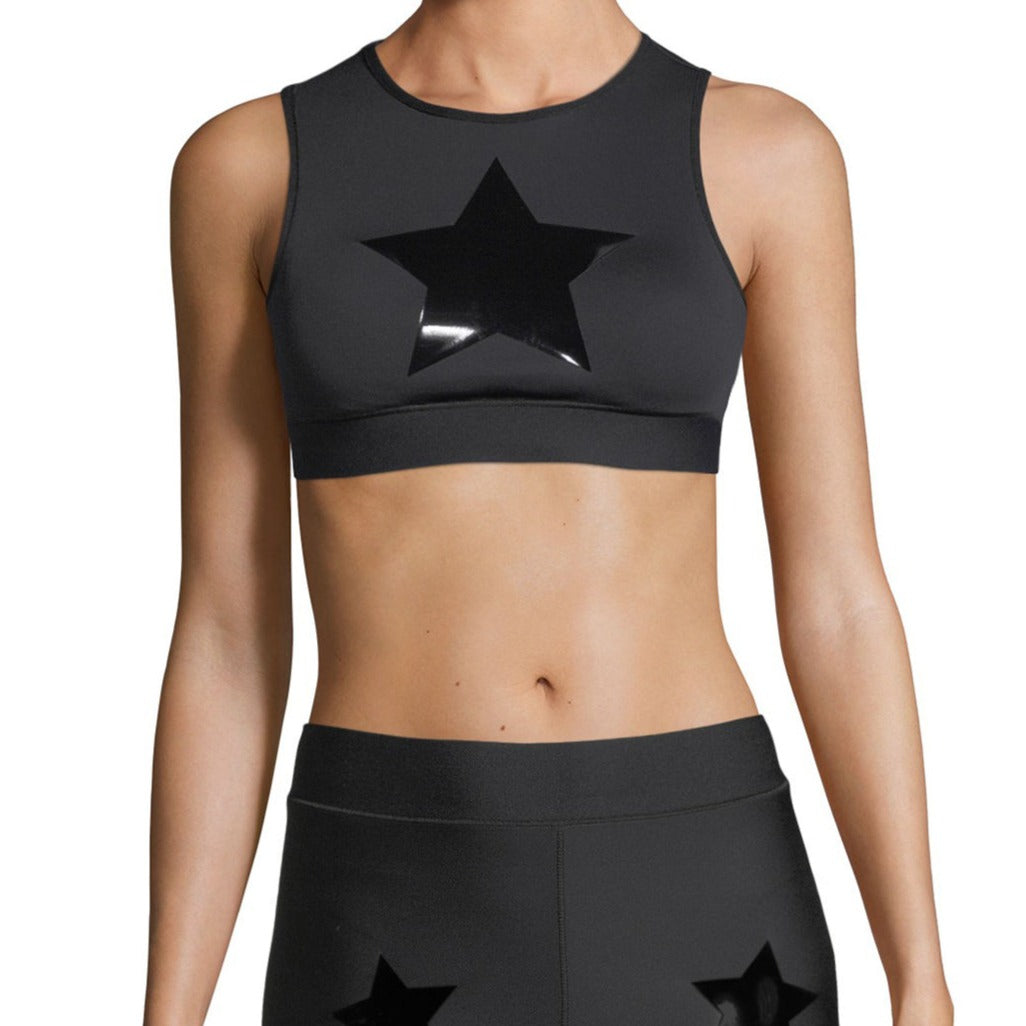 ULTRACOR - LEVEL KNOCKOUT CROP TOP - NERO/PAT
