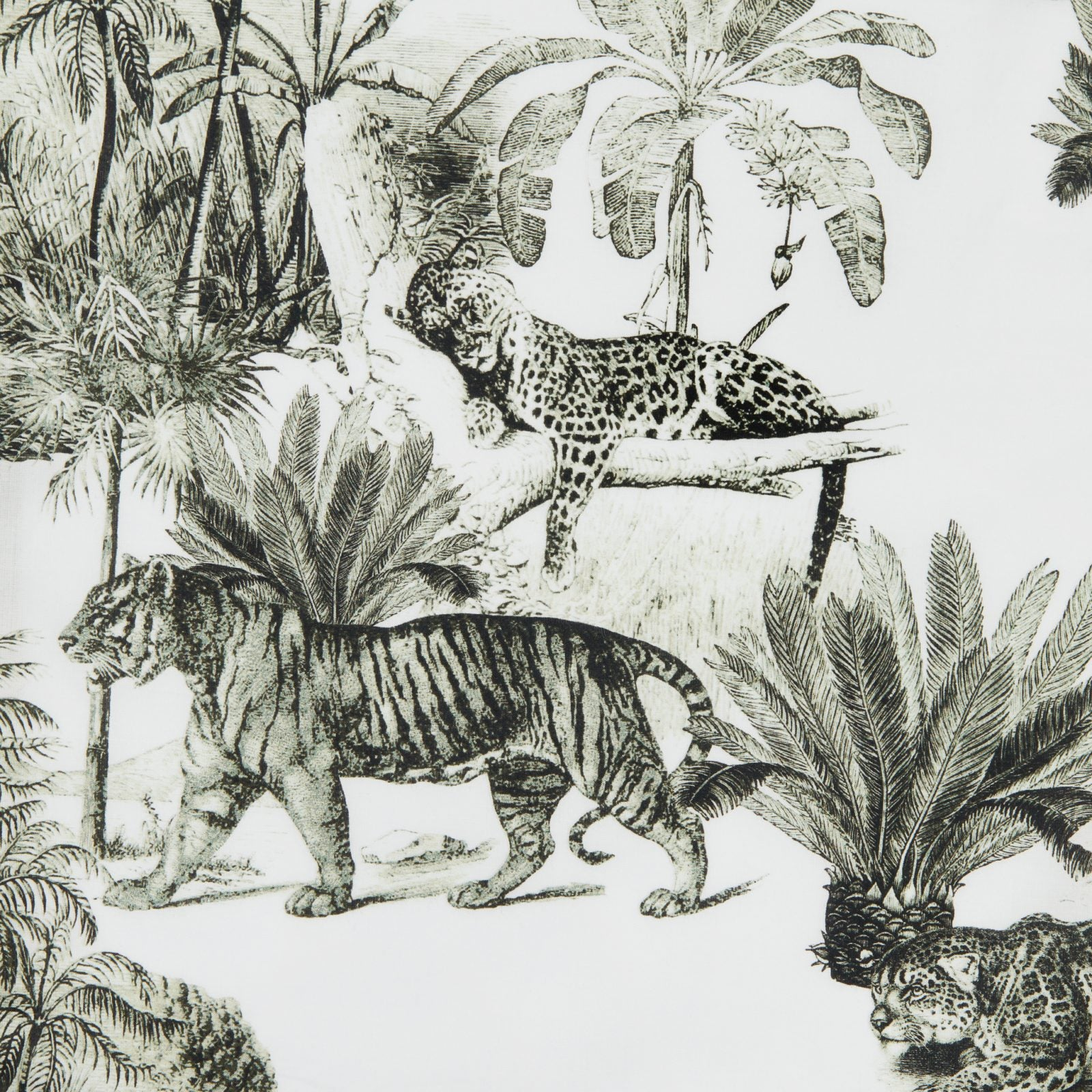 Tiger Toile Luxe Pima Capri -THE CAT'S PAJAMAS