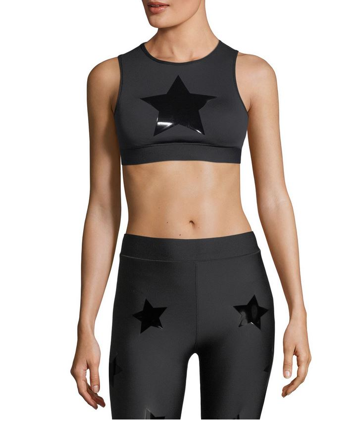 ULTRACOR - LEVEL KNOCKOUT CROP TOP-NERO/PAT