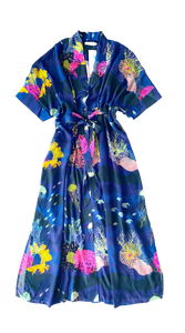 VERANDAH - Blue Marine Luxurious Kaftan Dress