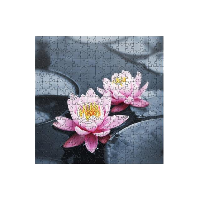 ZEN WOODEN JIGSAW PUZZLES LOTUS FLOWER