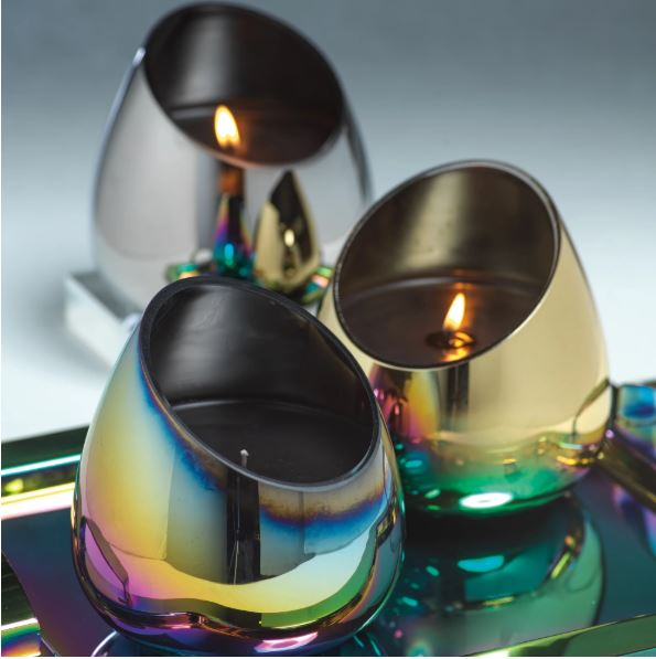 RAINBOW METALLIC  SLANT CANDLE