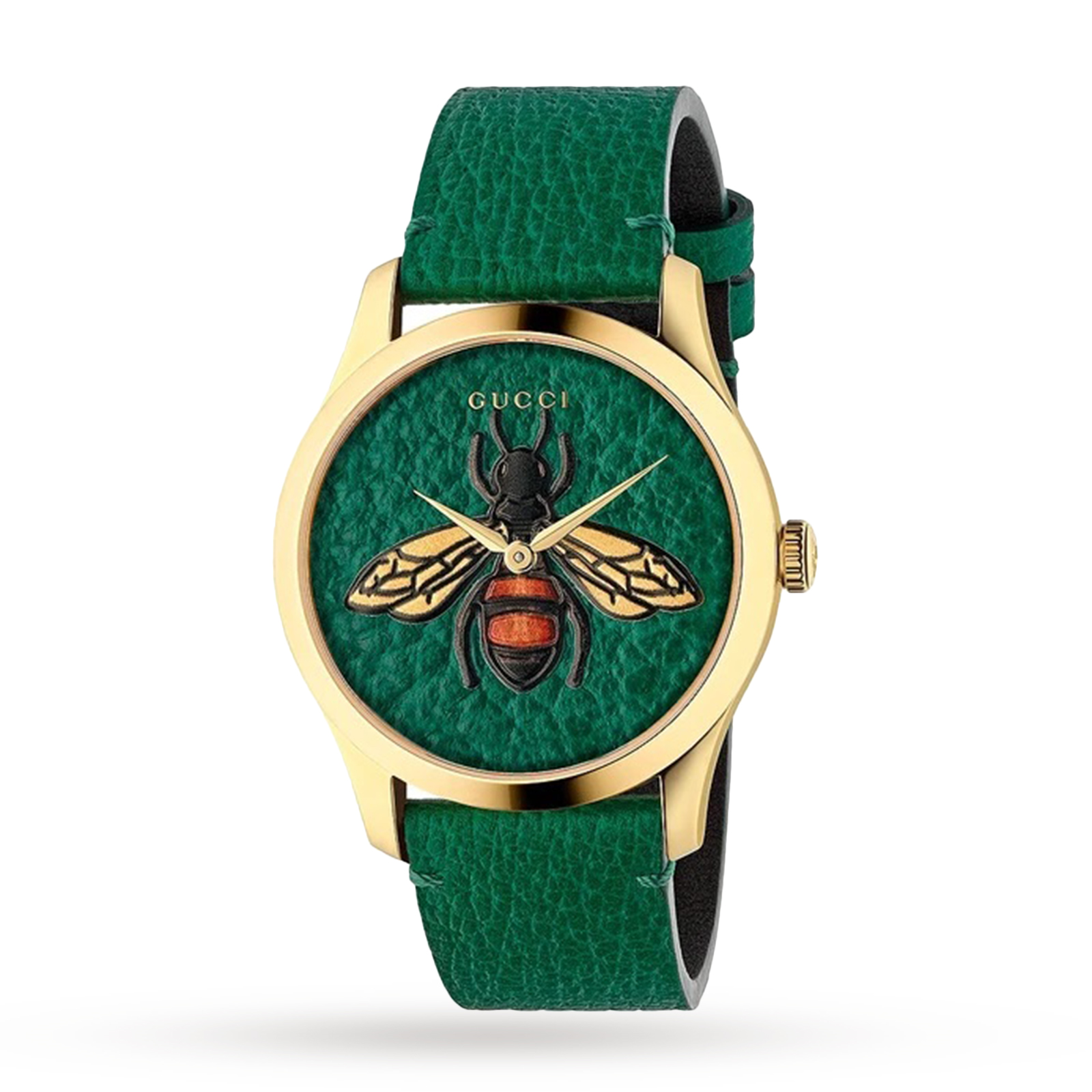 GUCCI G - Timeless Emerald Green with Bee Motif Dial - YA1264065A