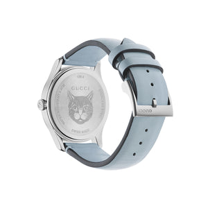 GUCCI - G-Timeless Contemporary Cats Stainless Steel & Leather Strap Watch - YA1264124